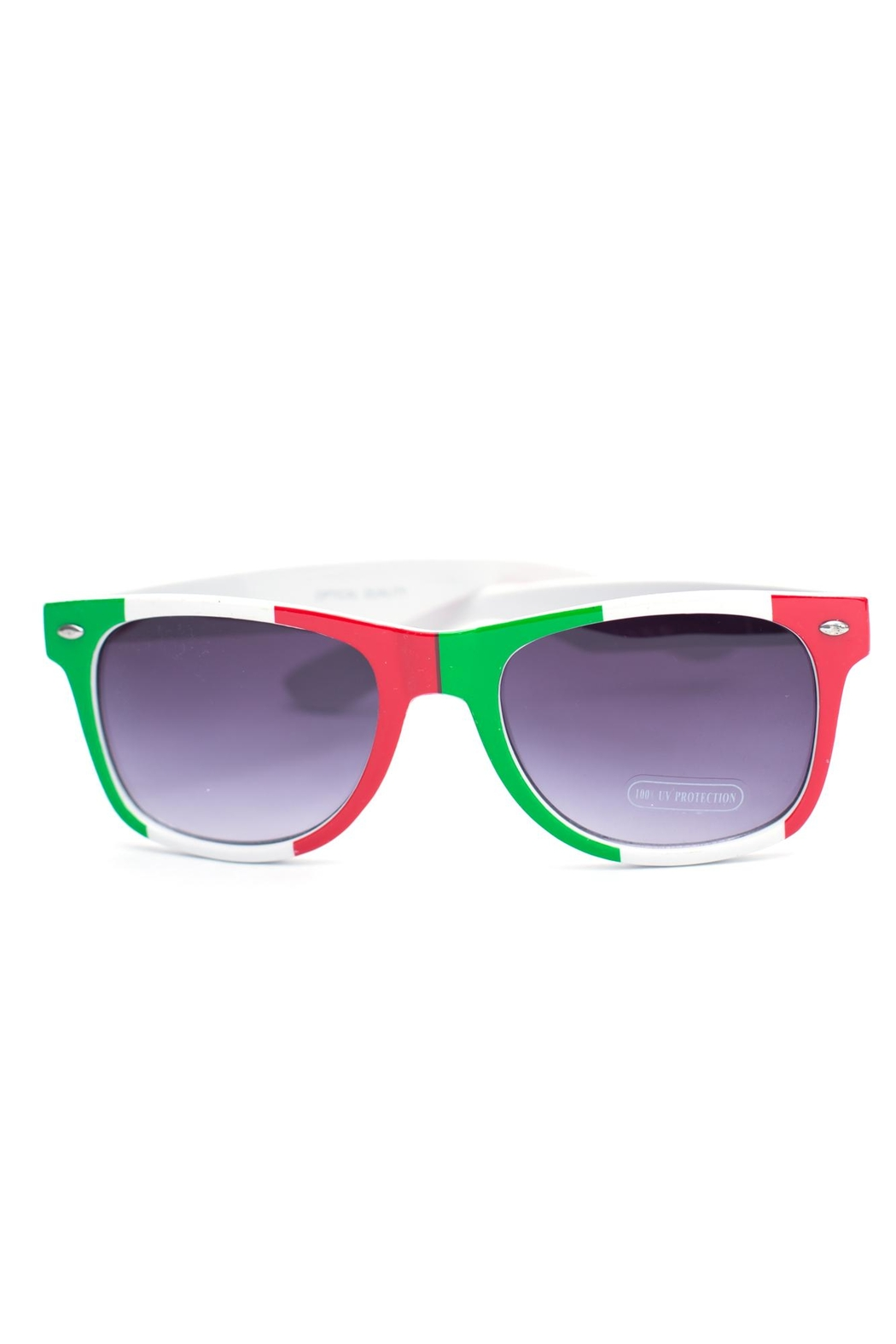 Ocean and Land Mexican Flag Sunglasses - Main Image
