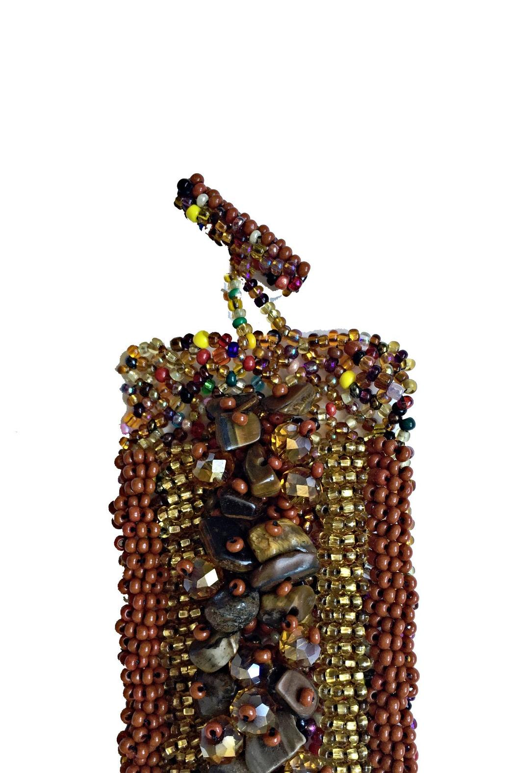 Mexican Collection Hand-Beaded Center Cuff - Front Full Image