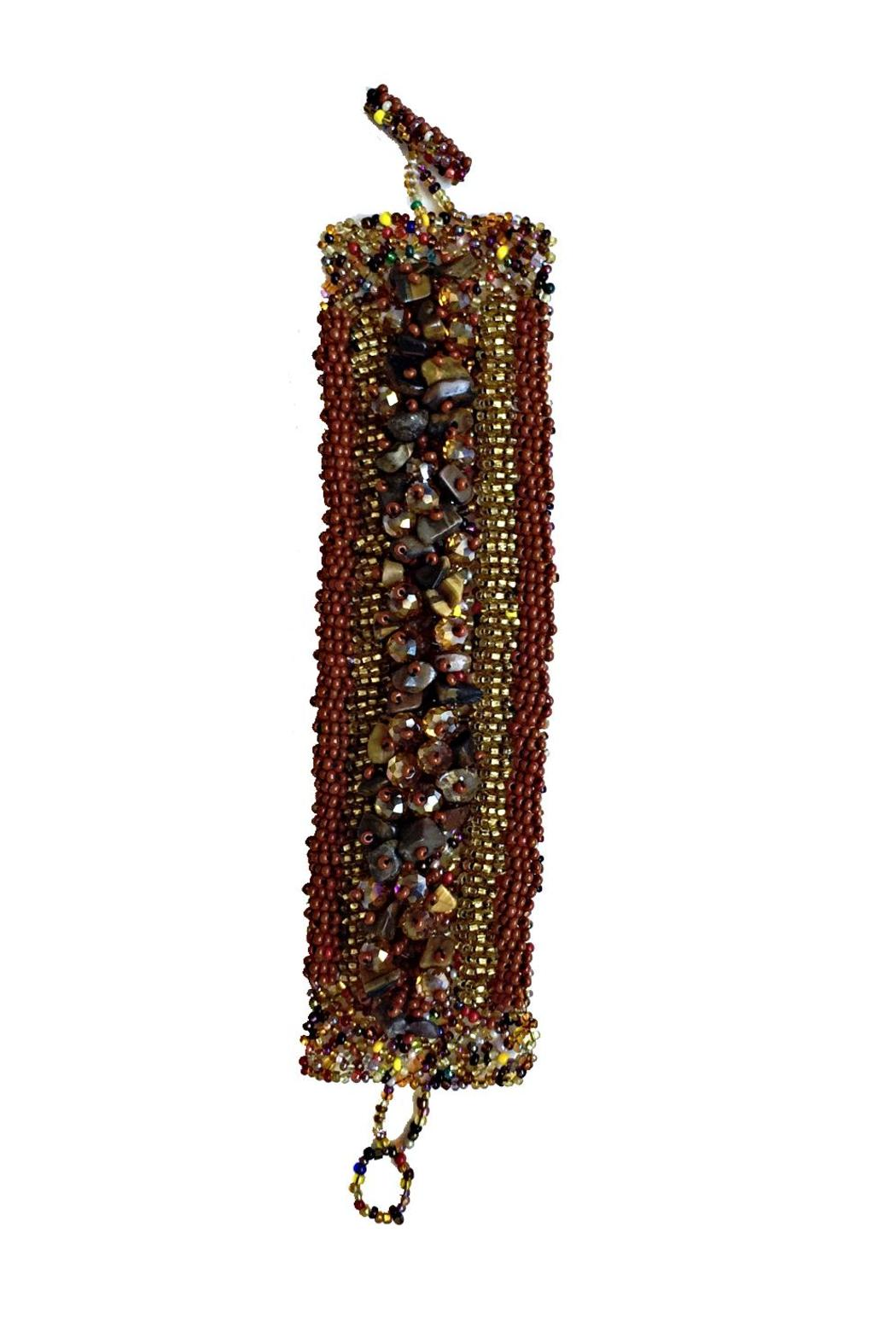 Mexican Collection Hand-Beaded Center Cuff - Main Image