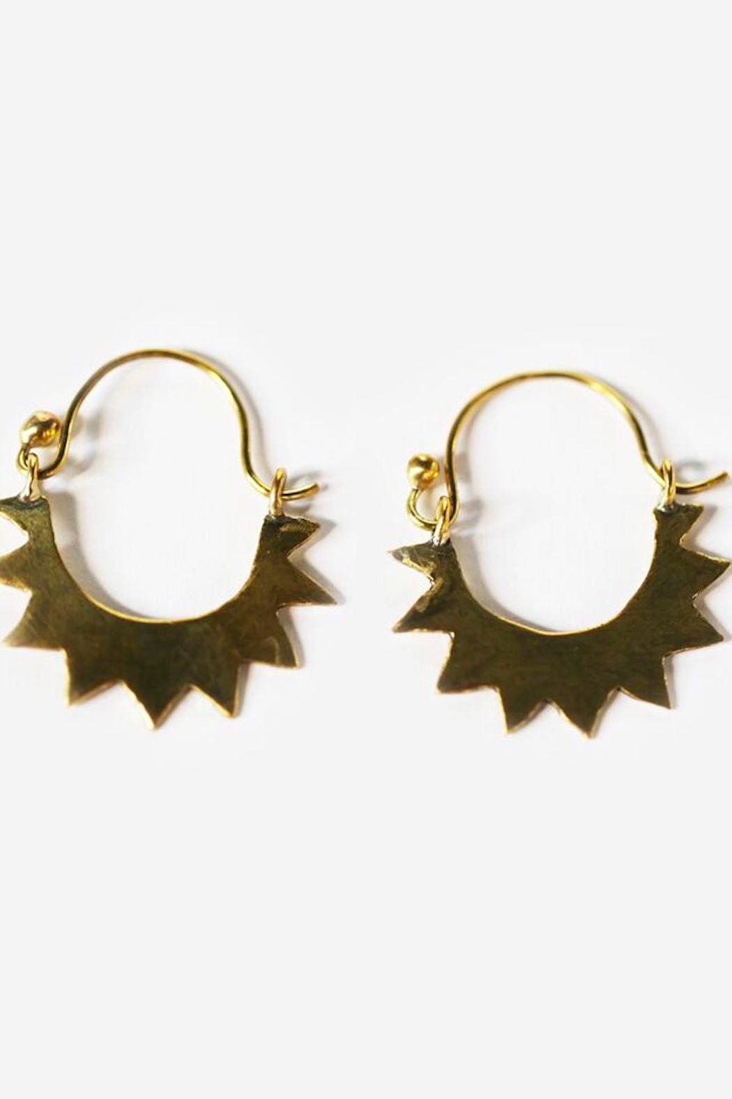 Meyelo Brass Sun Earrings - Main Image