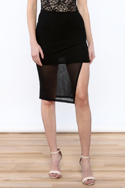 Shoptiques Product: Black Mesh Skirt