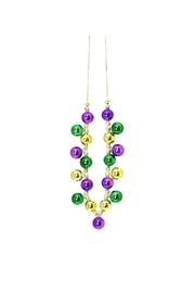 Mardi Gras Collection Mg Beaded Necklace - Product Mini Image