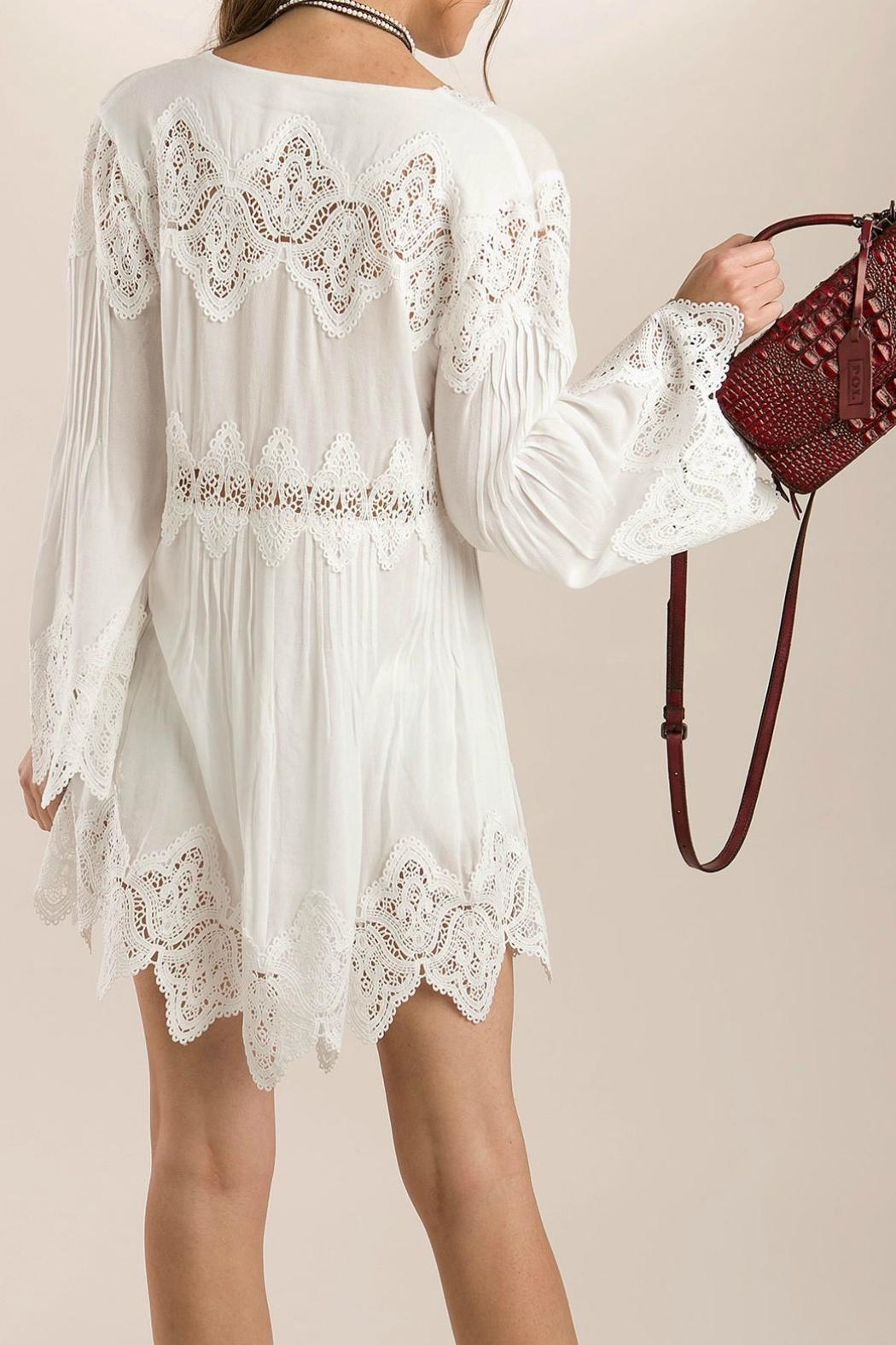 MHGS Bohemian Lace Tunic - Side Cropped Image
