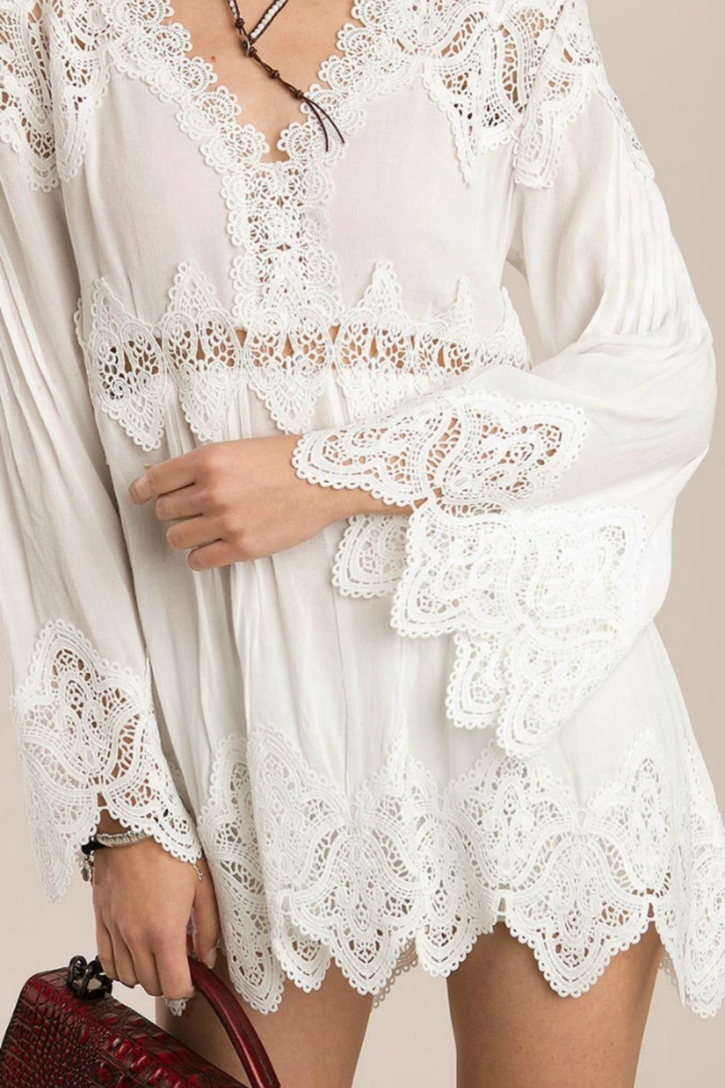 MHGS Bohemian Lace Tunic - Front Full Image