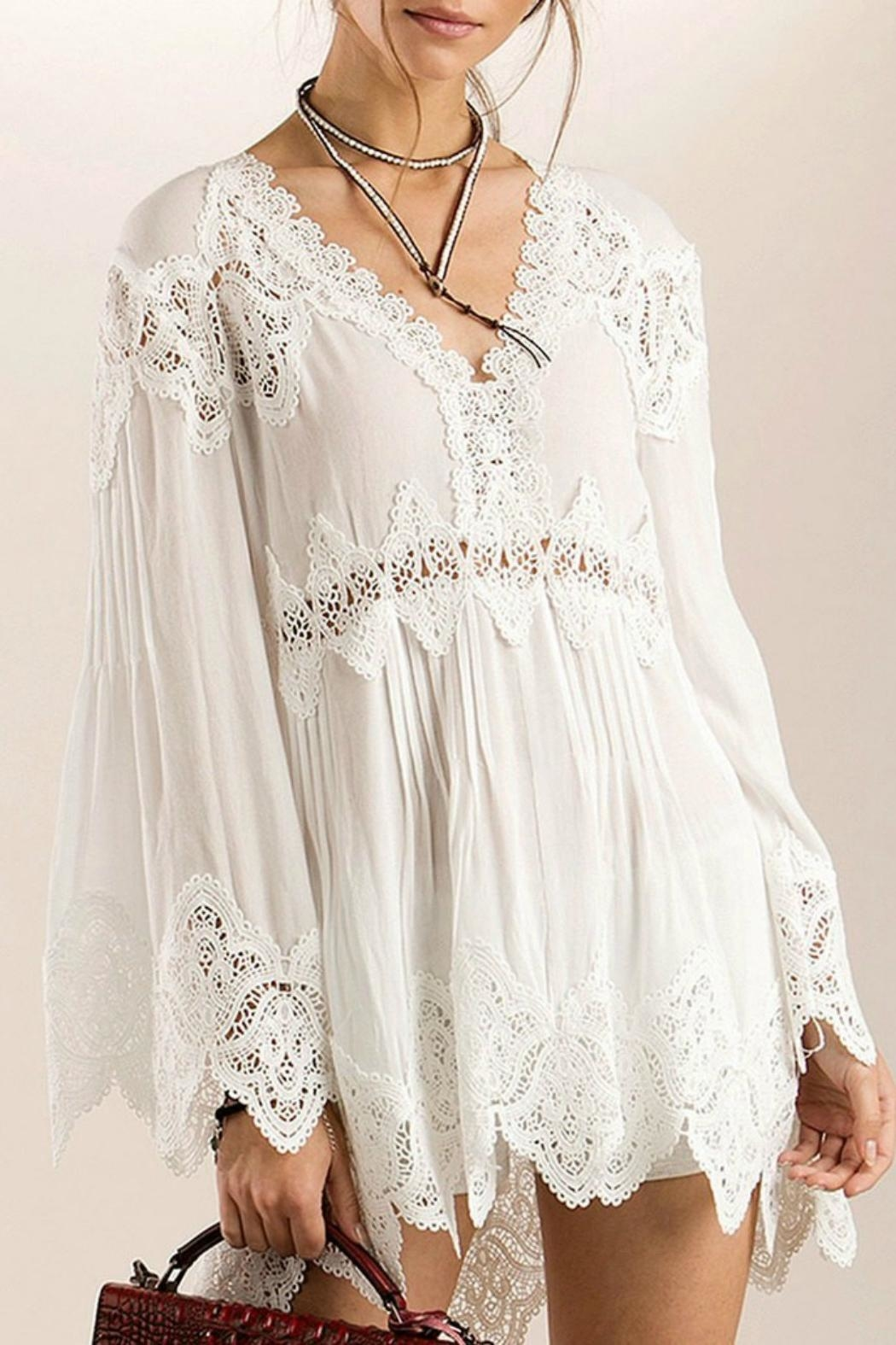 MHGS Bohemian Lace Tunic - Front Cropped Image
