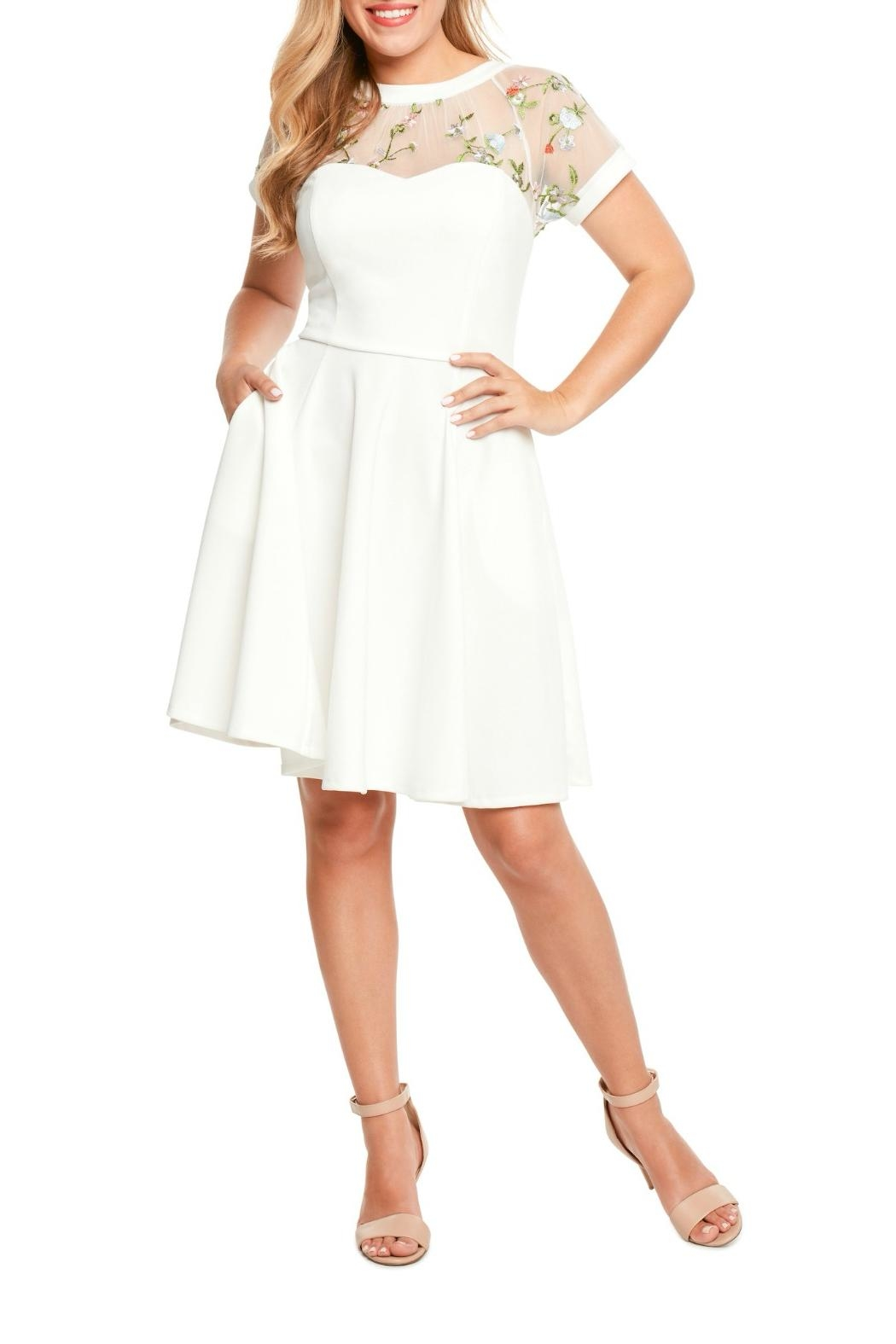 MHGS Embroidered Sweetheart Dress - Main Image