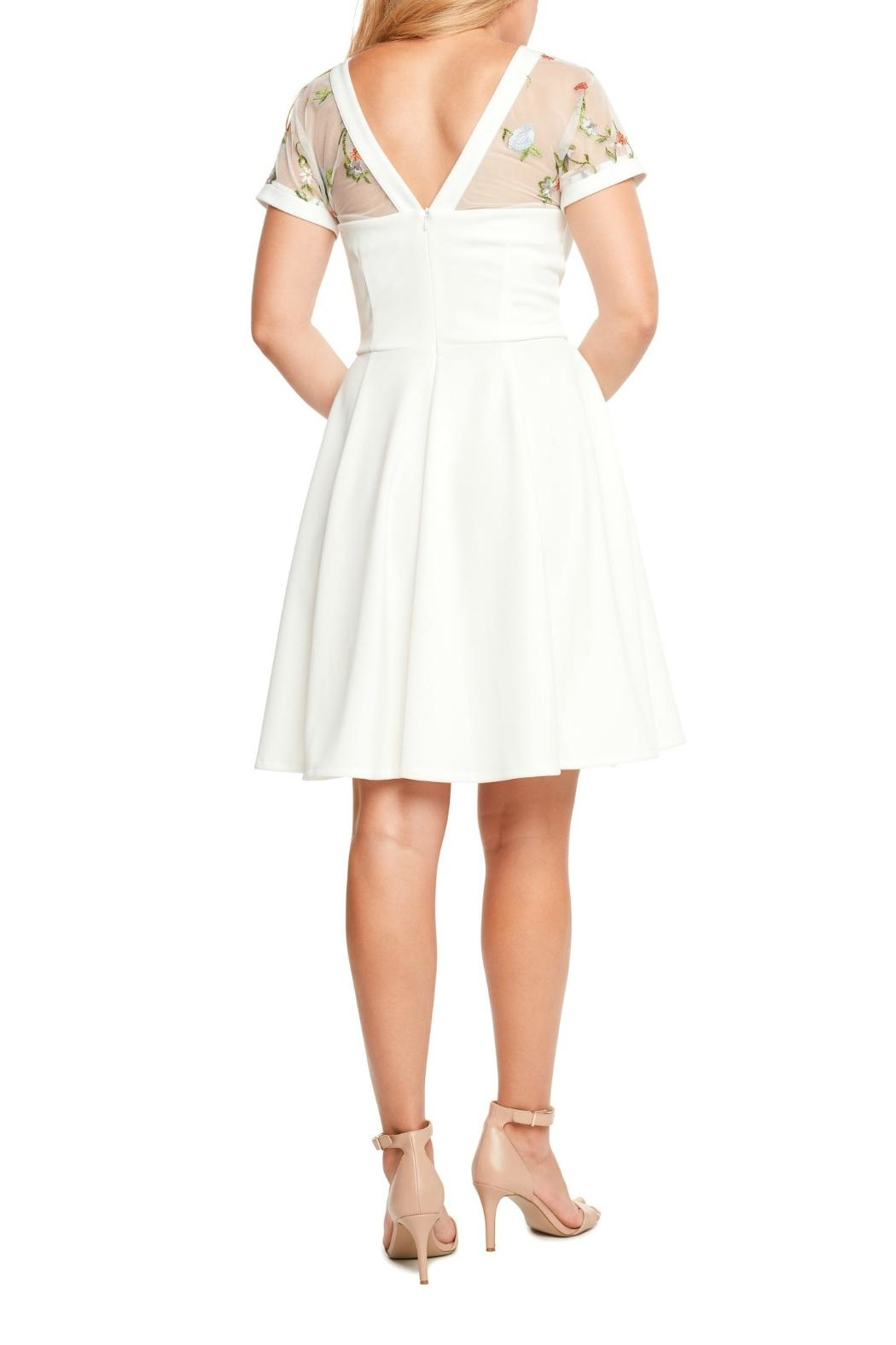 MHGS Embroidered Sweetheart Dress - Front Full Image