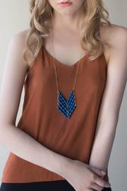 TuLi Eve Chevron Necklace - Front cropped