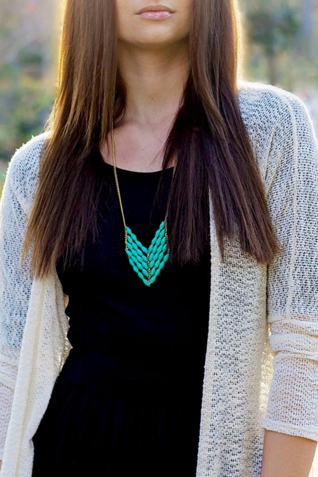 TuLi Eve Chevron Necklace - Front Cropped Image