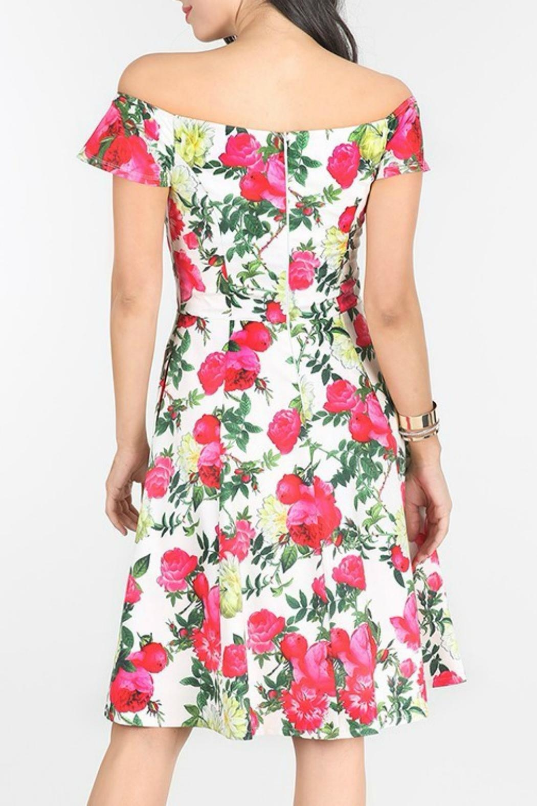 MHGS Floral Party Dress - Side Cropped Image