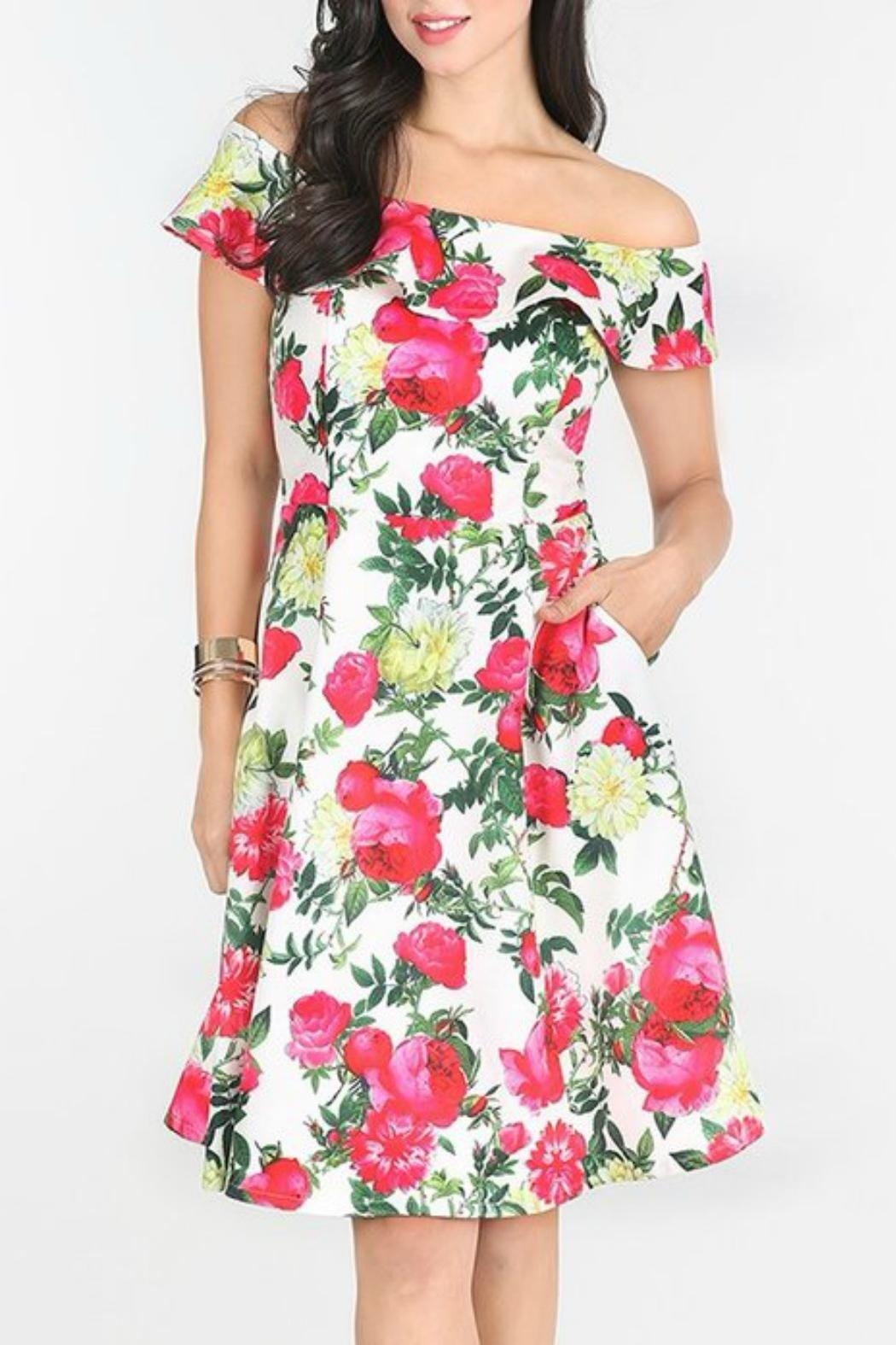 MHGS Floral Party Dress - Front Full Image