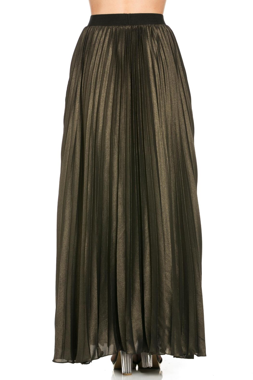 MHGS Gold Pleated Maxi - Side Cropped Image