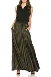MHGS Gold Pleated Maxi - Front cropped
