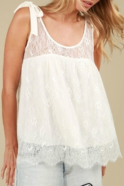 MHGS Lace Bow Top - Front cropped