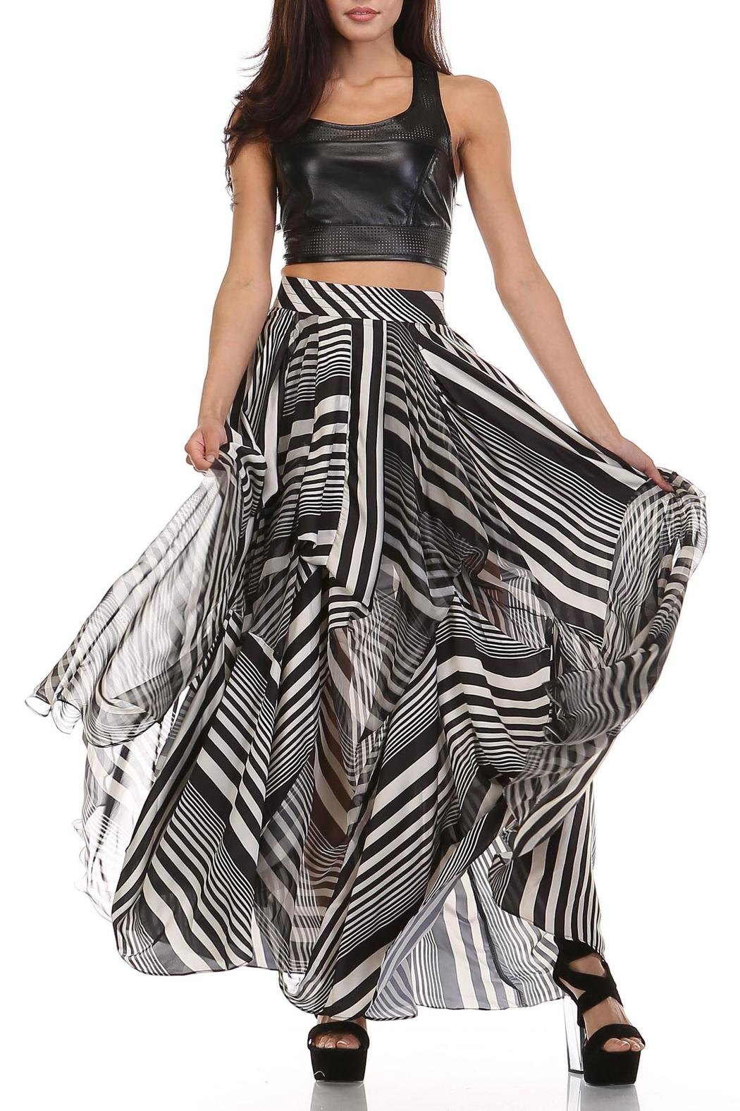 MHGS Licorice Stripe Maxi - Front Cropped Image