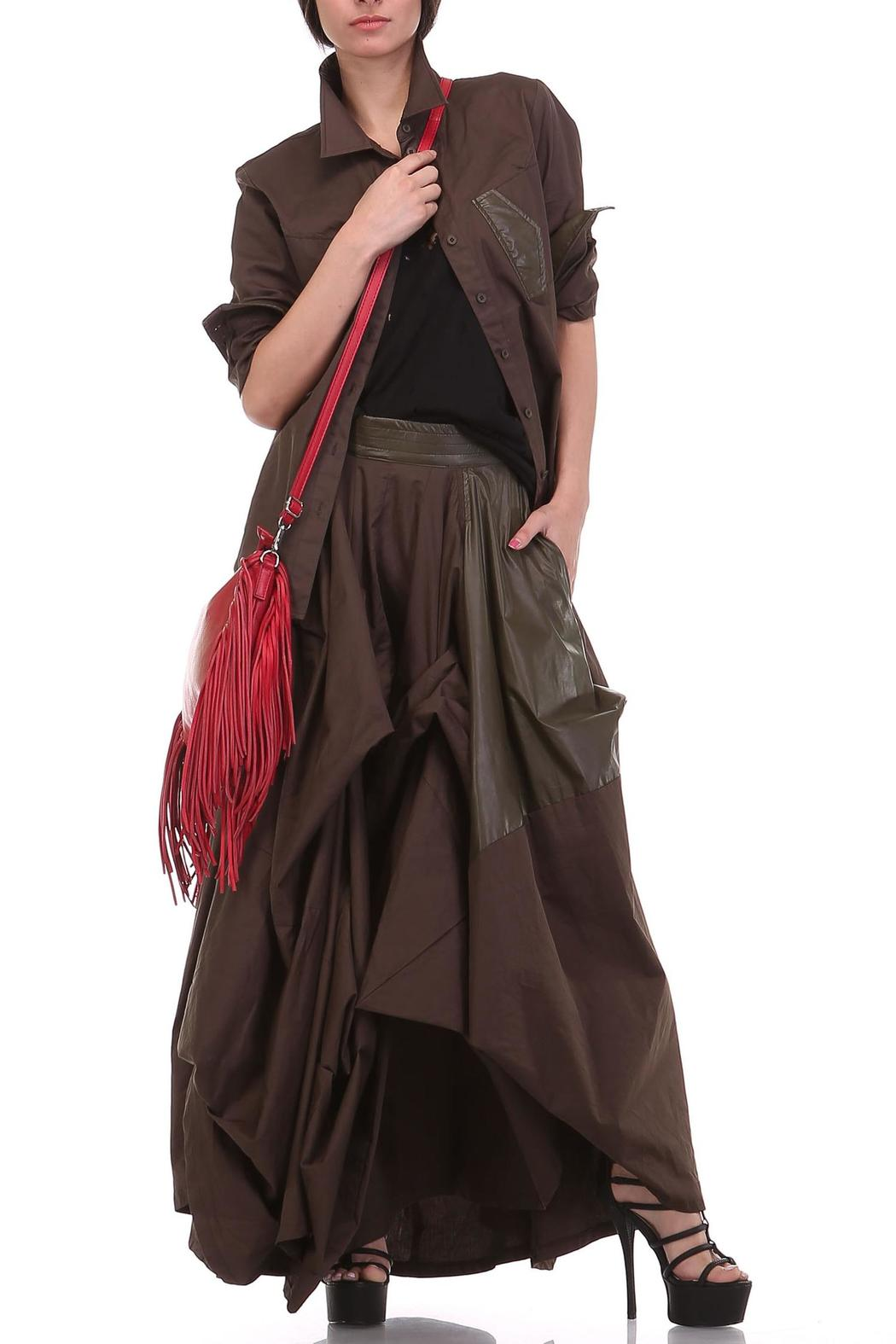 MHGS Olive Damsel Maxi - Side Cropped Image