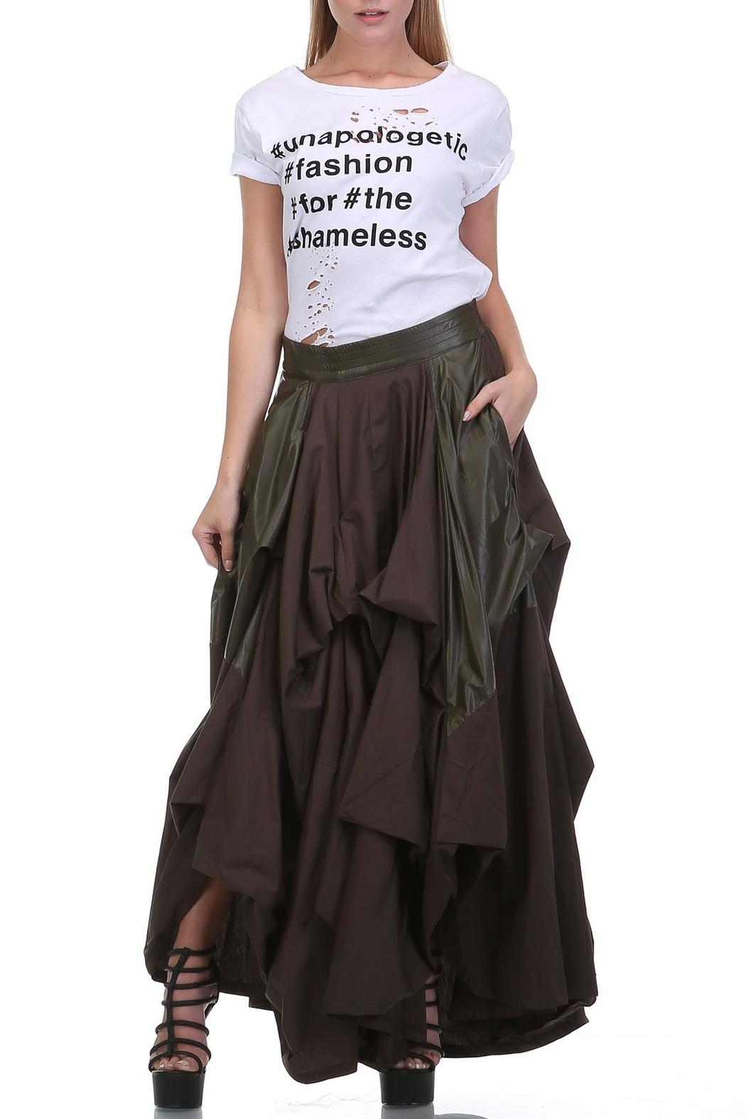 MHGS Olive Damsel Maxi - Back Cropped Image