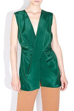 Shoptiques Product: Sleeveless Drape Front Top