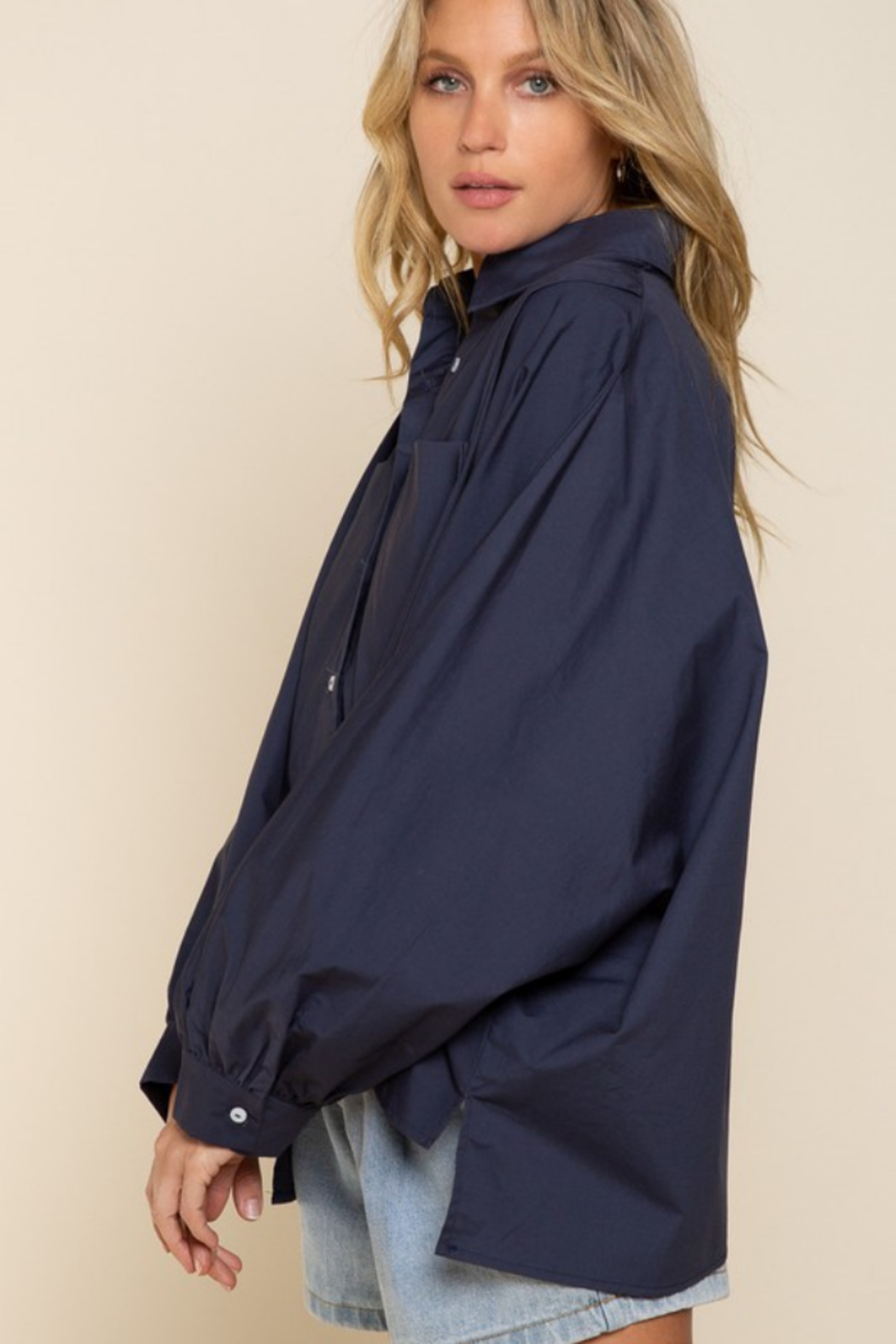 Cloudwalk Mia Asymmetrical Blouse - Side Cropped Image