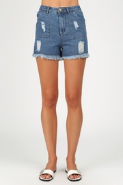 POL Mia Distressed Shorts - Product Mini Image