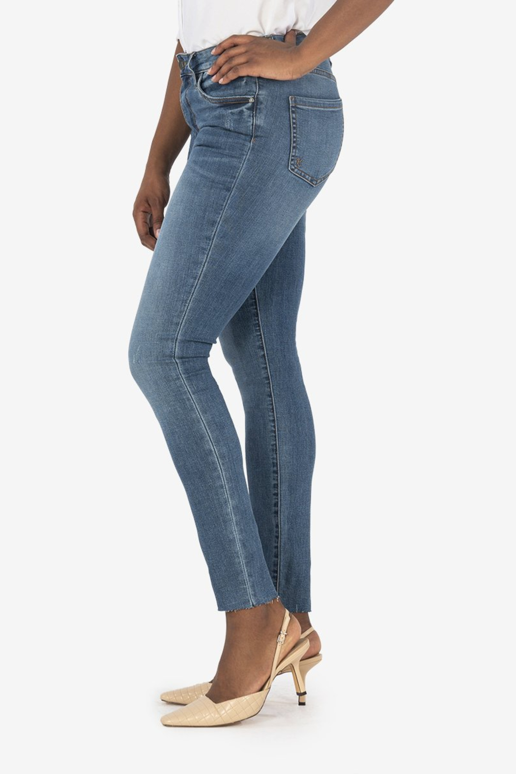 Kut from the Kloth Mia H/R Ankle Skinny - Front Full Image