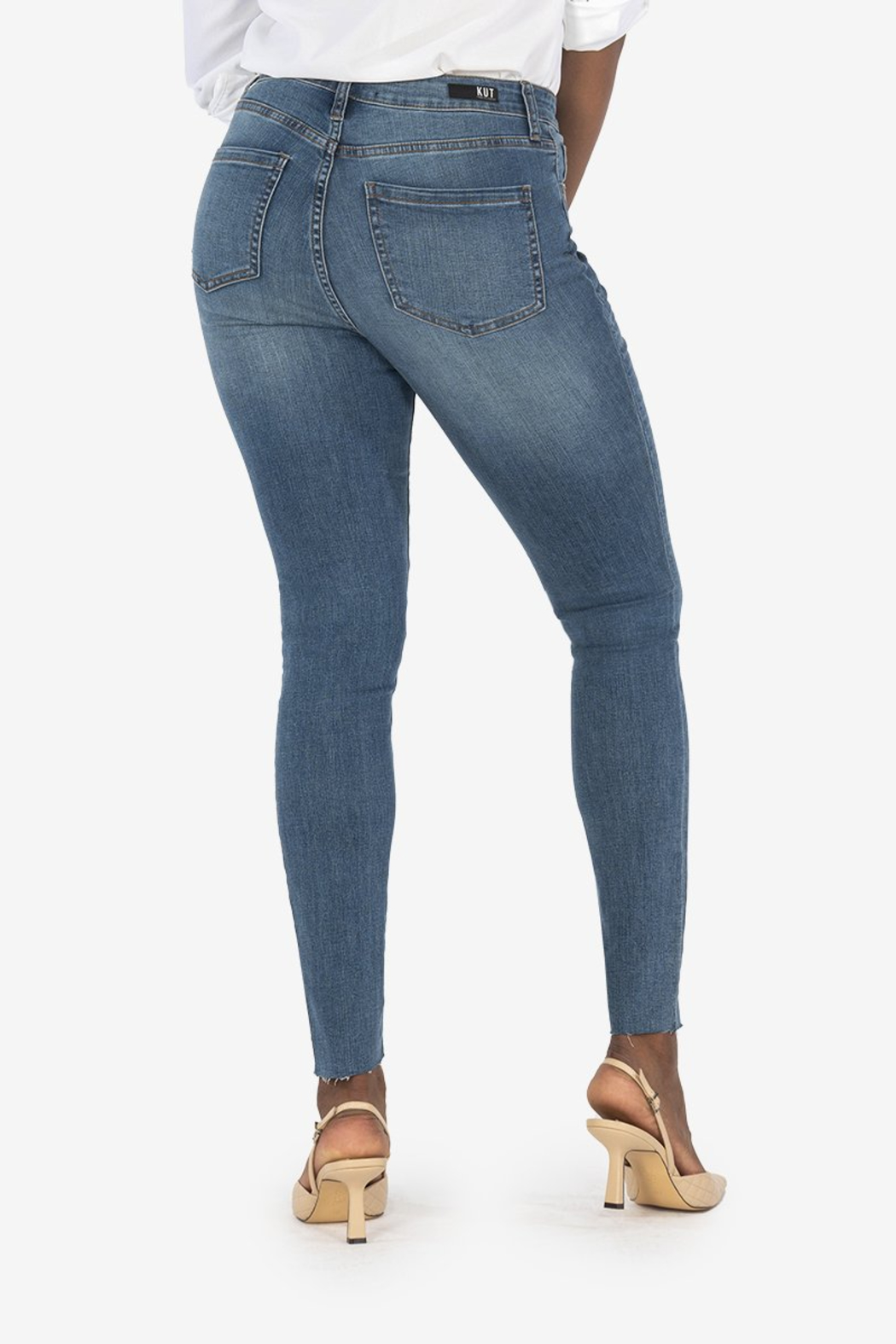 Kut from the Kloth Mia H/R Ankle Skinny - Side Cropped Image