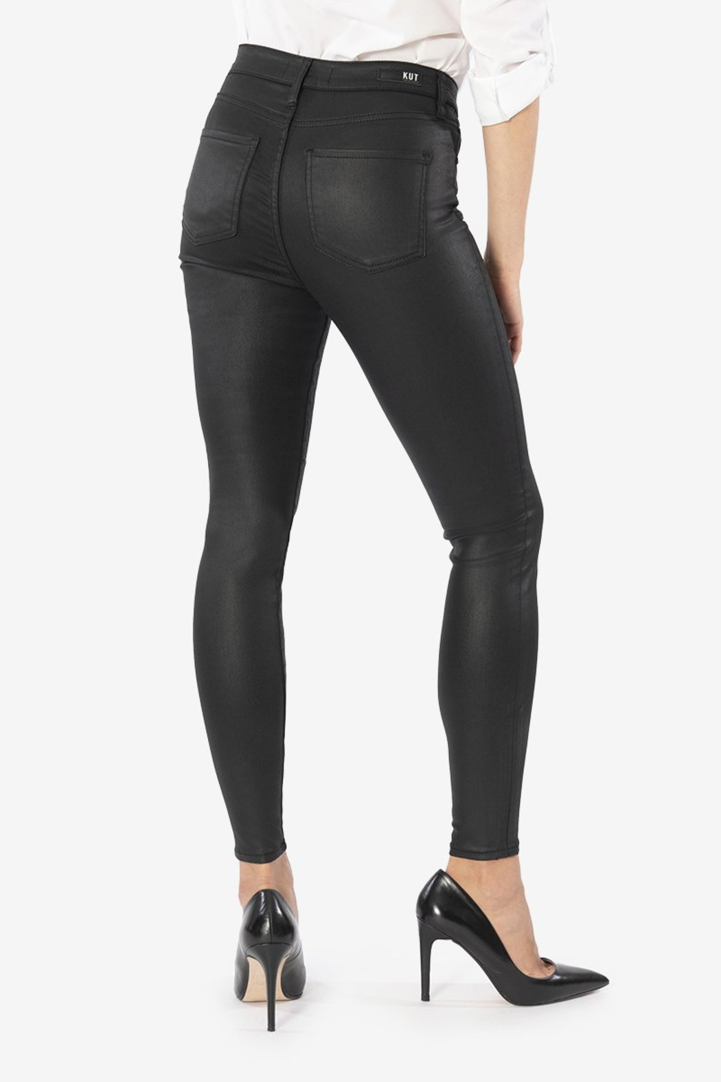 Kut from the Kloth Mia H/R Pleather Skinny - Side Cropped Image