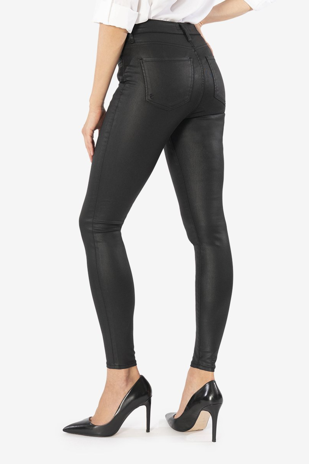 Kut from the Kloth Mia H/R Pleather Skinny - Front Full Image