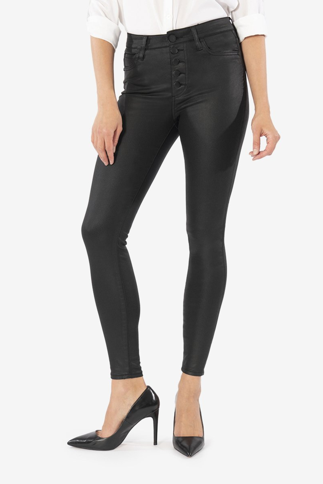 Kut from the Kloth Mia H/R Pleather Skinny - Main Image
