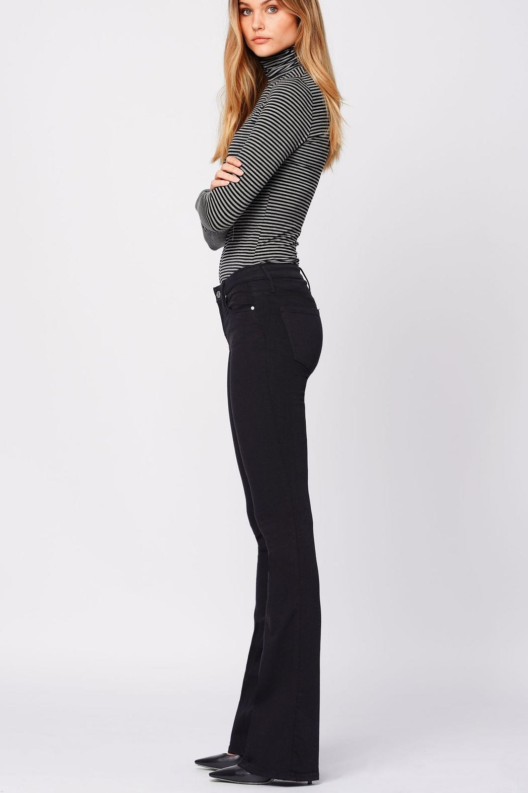 Black Orchid Denim Mia Mid-Rise Skinny-Flare - Back Cropped Image