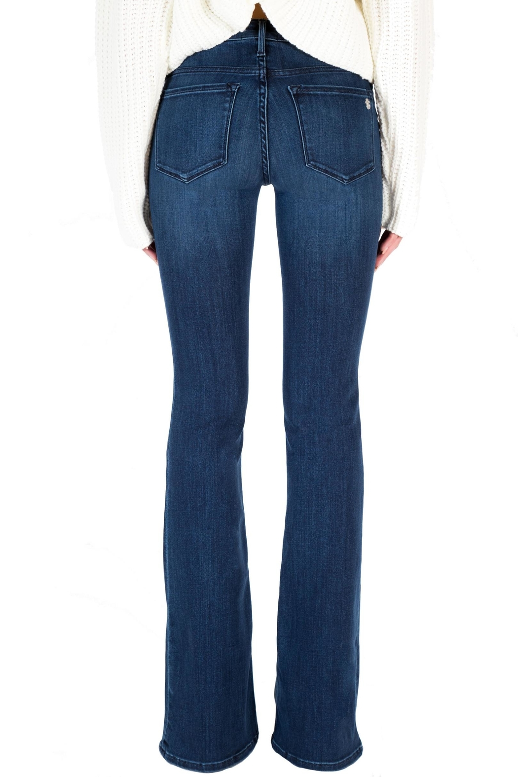 Black Orchid Denim Mia Mid Rise Skinny Flare Denim - Side Cropped Image