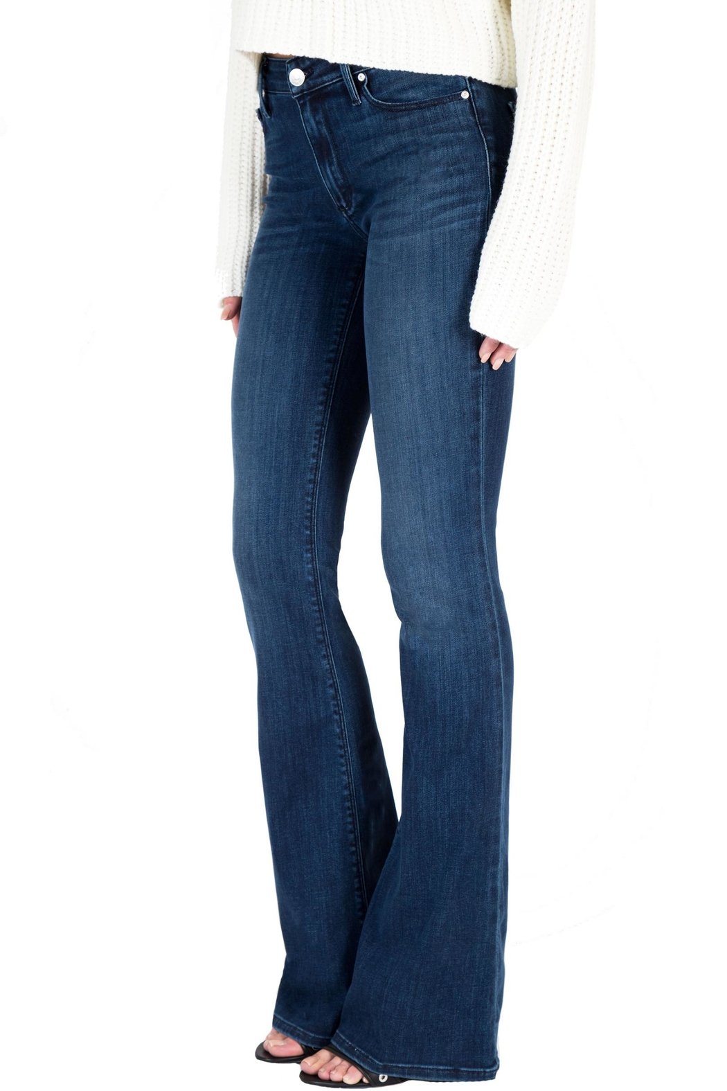 Black Orchid Denim Mia Mid-Rise Skinny-Flare - Front Full Image