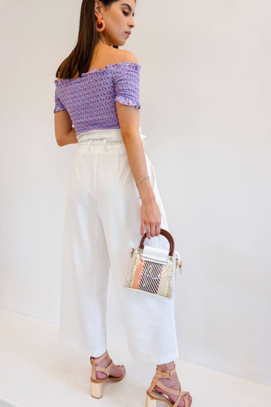 Renamed Clothing Mia Paperbag Pants - Front Full Image
