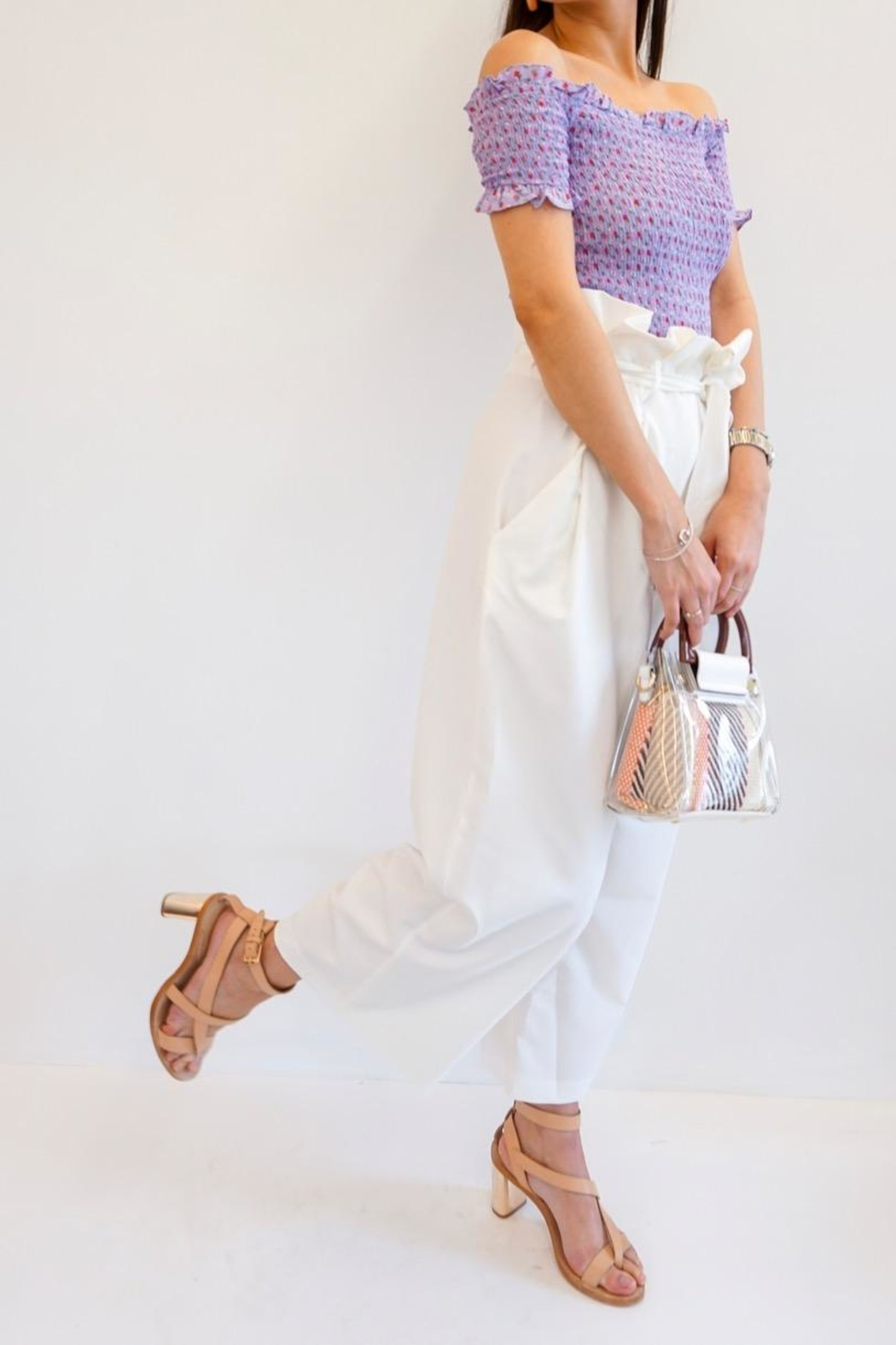 Renamed Clothing Mia Paperbag Pants - Side Cropped Image
