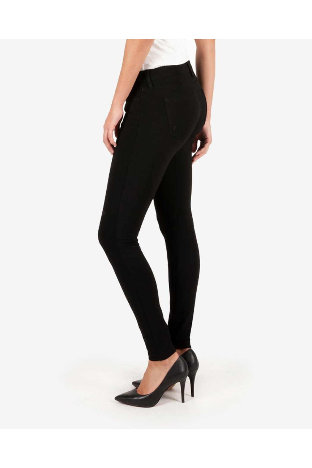 Kut from the Kloth MIA PONTE SLIM FIT SKINNY - Front Full Image