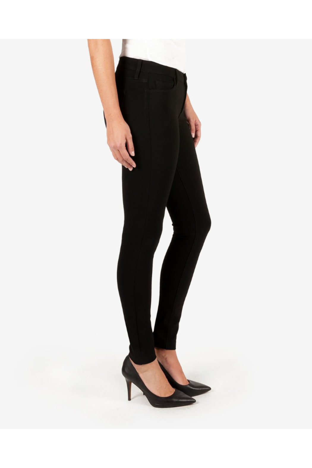Kut from the Kloth MIA PONTE SLIM FIT SKINNY - Side Cropped Image