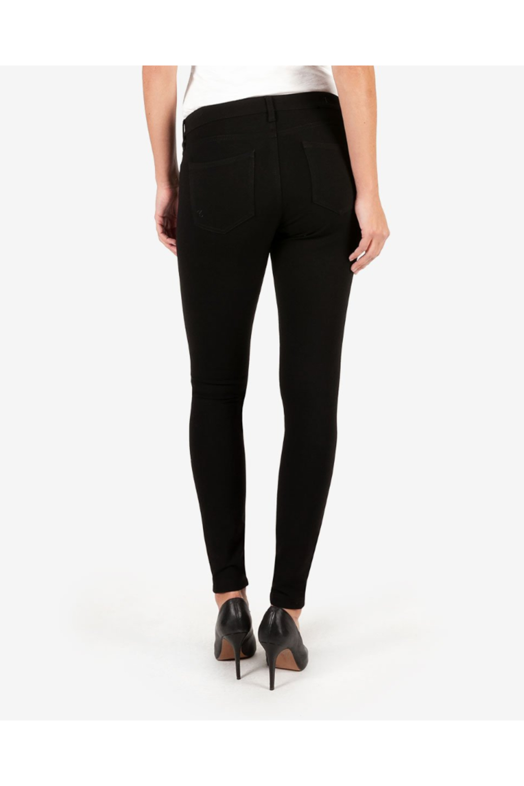 Kut from the Kloth MIA PONTE SLIM FIT SKINNY - Back Cropped Image
