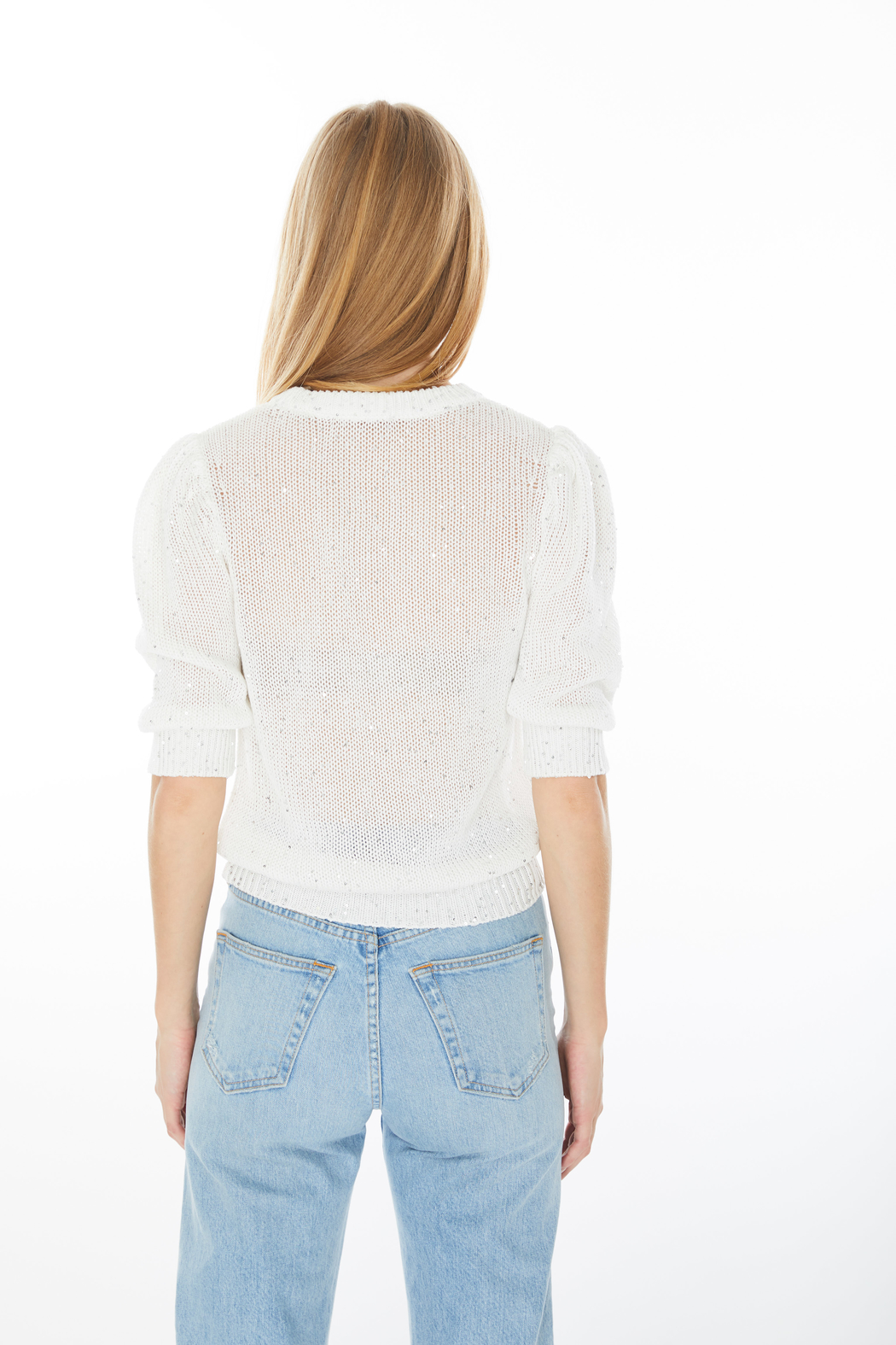Generation Love  Mia Sequin Sweater - Back Cropped Image