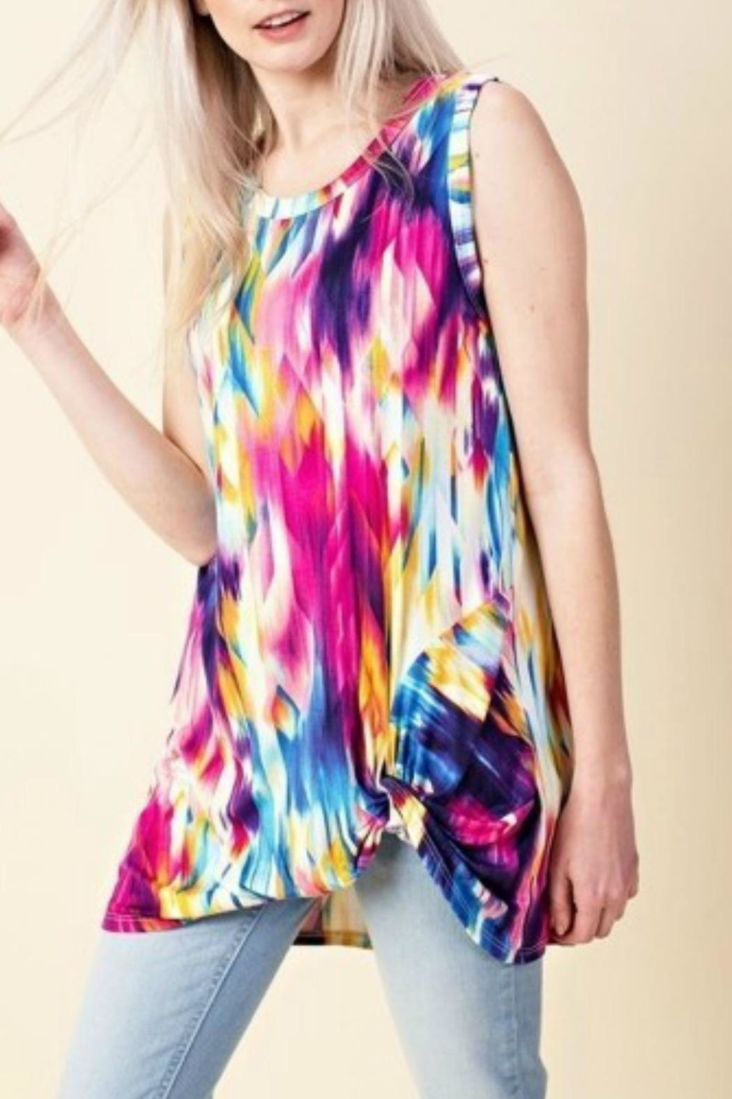 Style in the USA Mia Sleeveless Top - Front Full Image