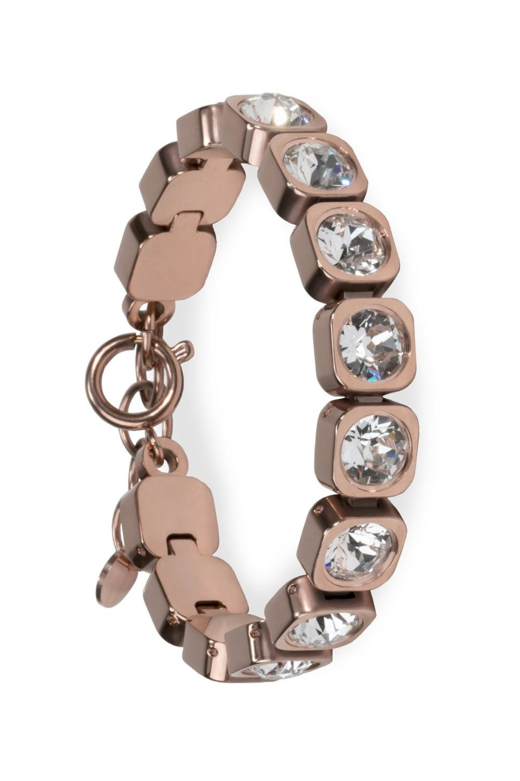 Mia Stainless Tennis Bracelet - Front Cropped Image