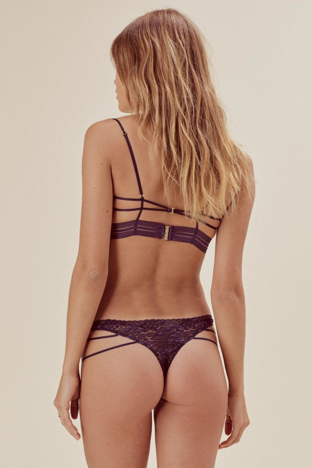 FOR LOVE & LEMONS Mia Strappy Thong - Front Full Image