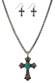 Mia Turquoise Cross Necklace-Set - Product Mini Image