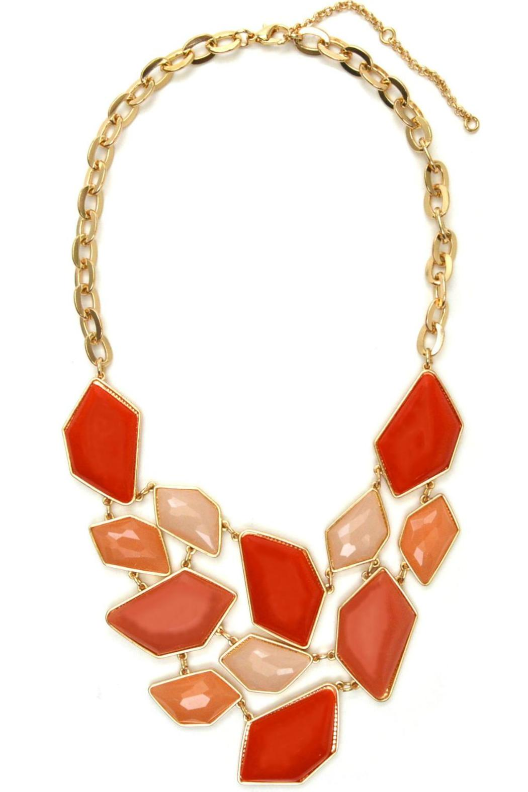 Mia Collection Coral Faceted Bib Necklace - Main Image