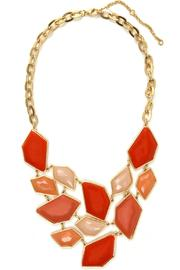Mia Collection Coral Faceted Bib Necklace - Front cropped