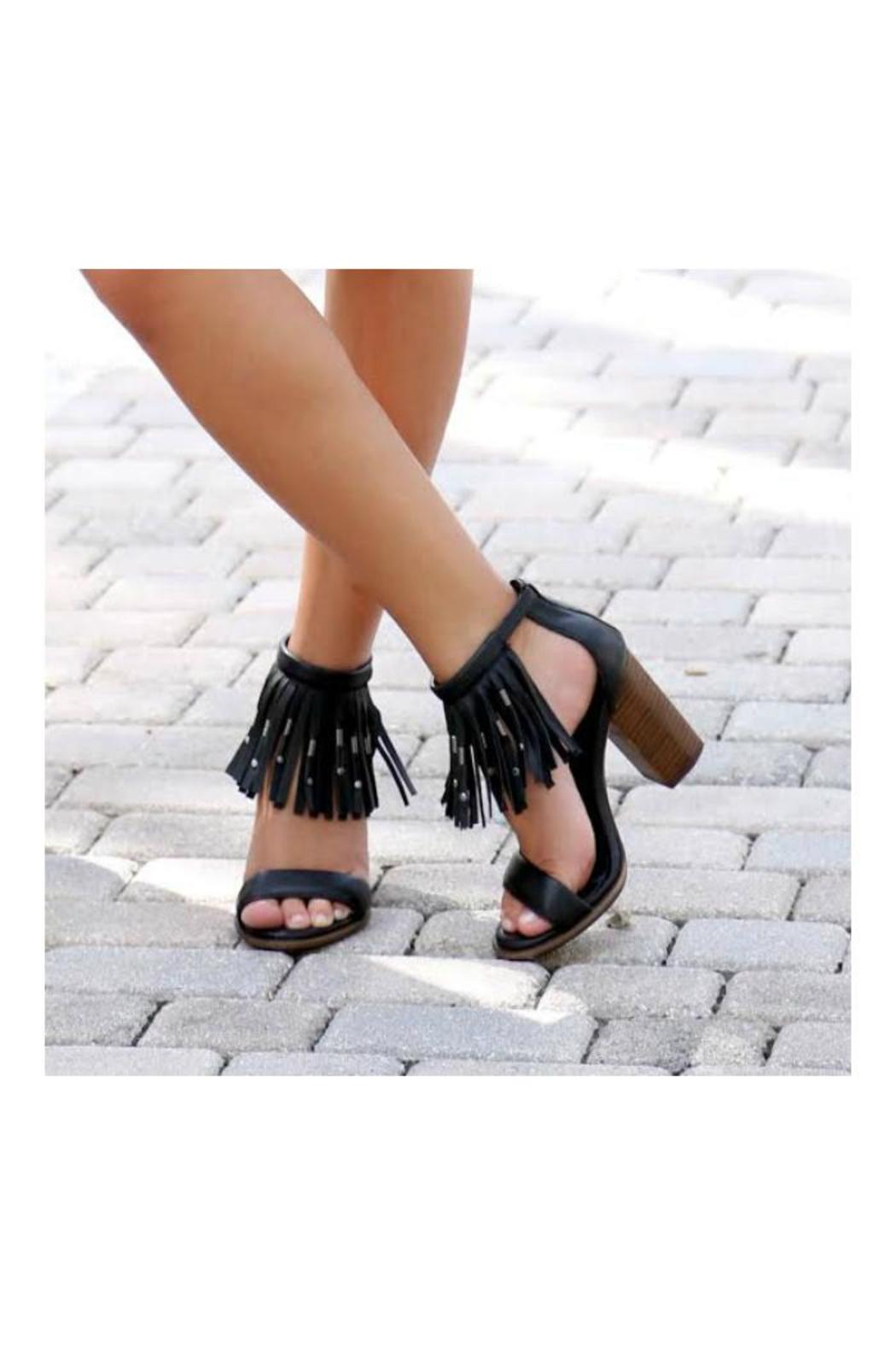 MIA Shoes Cristi Fringe Sandal - Back Cropped Image