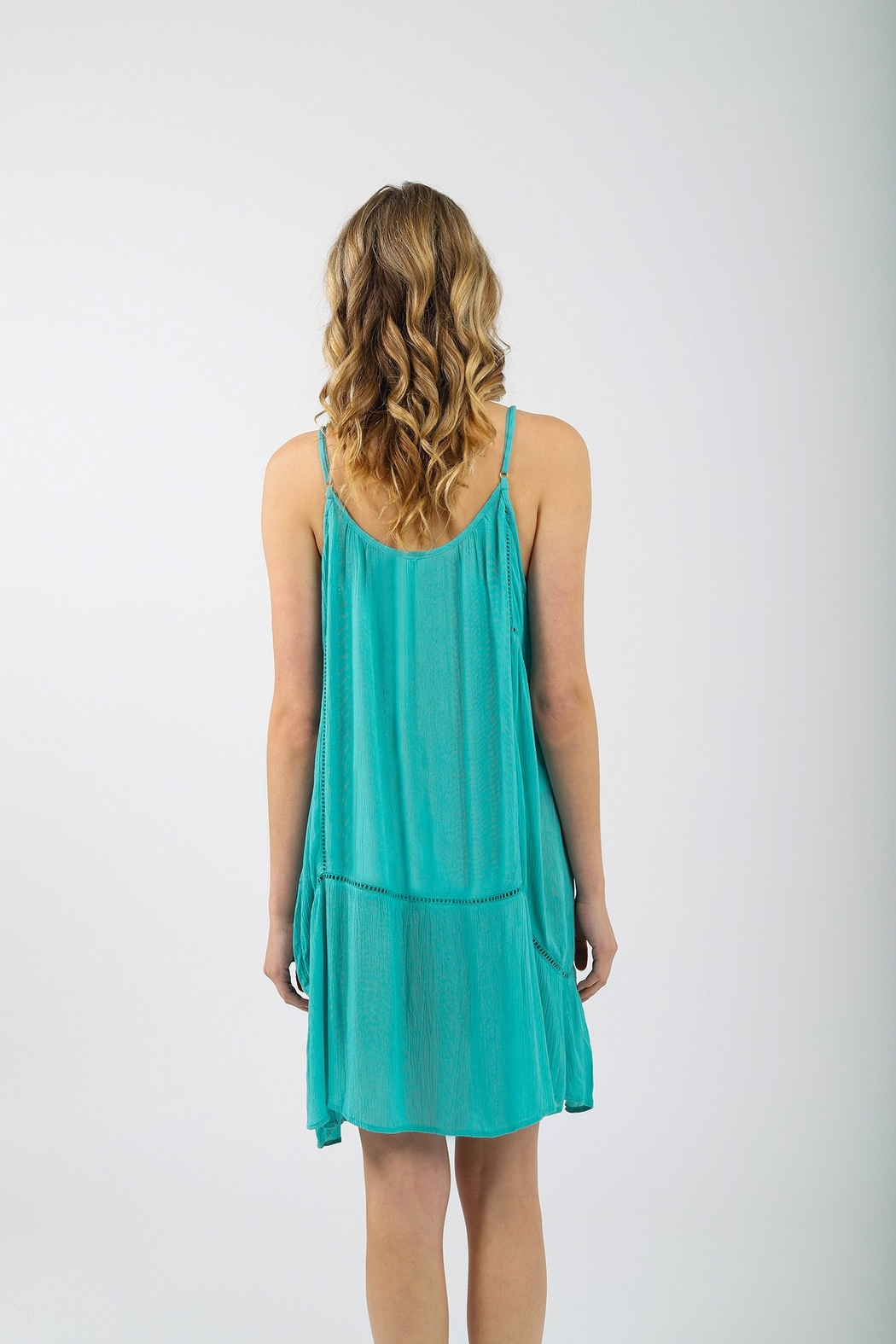 Koy Resort Miami Strappy Button Up Dress - Side Cropped Image