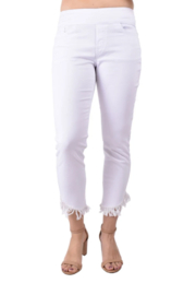 Ethyl  Miami White Fringe Ankle Jean - Front cropped
