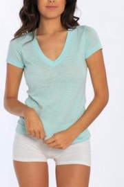 Miami Style Basic V Neck Tee - Front cropped