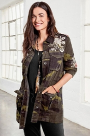 3J Workshop by Johnny Was Mica Military Jacket - Front cropped