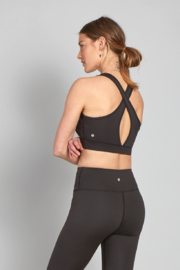 another love  Micah Athletic Bra in Black - Front full body